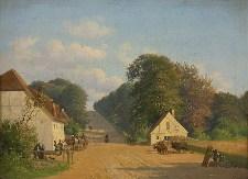 Andreas Juuel: Parti fra Geels Bakke ved Røjels bom (1851)