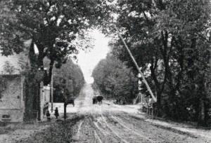 Røjels Bom ved Geels Bakke. Postkort omkring år 1900