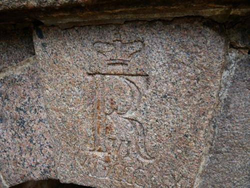 Kong Frederik VI's monogram - smukt og velbevaret