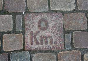 0-km sten Flakhaven Odense