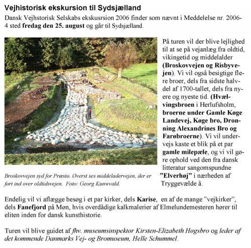 Ekskursion til Sydsjælland 2006
