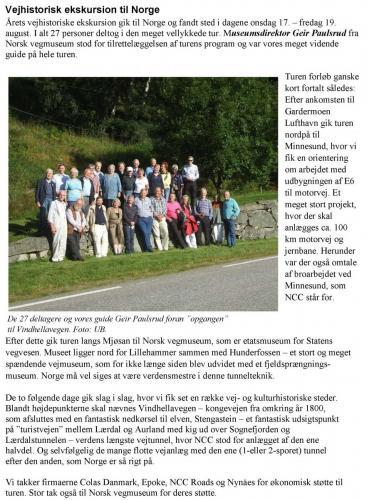 Ekskursion til Norge 2011
