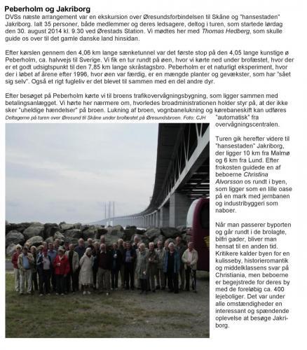 Ekskursion til Peberholm og Jakriborg 2014