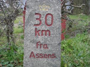 Fynsk milesten genbrugt som km-sten