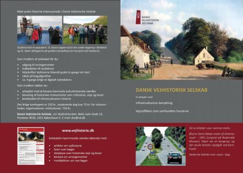 Brochure om Dansk Vejhistorisk Selskab